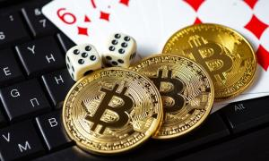 Bitcoin casino chips laptop